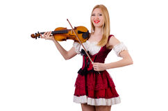 Girl playing violin Royalty Free Stock Image