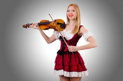 Girl playing violin Royalty Free Stock Images