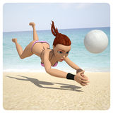Girl playing in volleyball Royalty Free Stock Photography