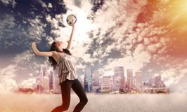 Girl playing volleyball Royalty Free Stock Images