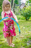 Girl playing royalty free stock photography