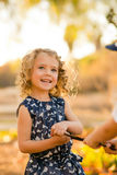 girl child happy playing Royalty Free Stock Photo