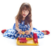 The girl plays Stock Images