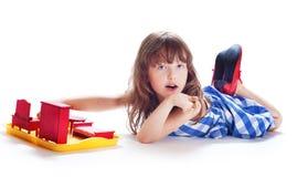 Girl plays Stock Image