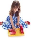 Girl plays Royalty Free Stock Photos