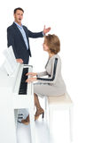 The girl plays the piano Royalty Free Stock Photography