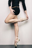 Girl in pointes Royalty Free Stock Images