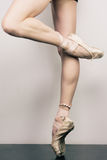 Girl in pointes. Young gorgeous girl in pointes Stock Photo