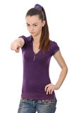 Girl pointing Royalty Free Stock Photography
