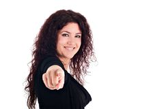 Girl Pointing Royalty Free Stock Images