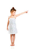 Girl pointing the finger Royalty Free Stock Image
