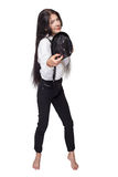Girl pointing Royalty Free Stock Photos