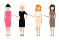 Girl pointing at something. avatar, vector. vector illustration