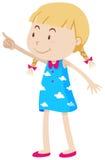 Girl pointing at something Royalty Free Stock Photo