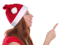 Girl pointing on someting Royalty Free Stock Photo