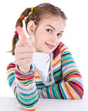 Girl pointing on you Stock Photo