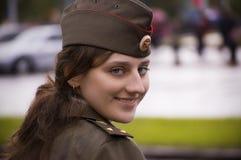 Girl policement Royalty Free Stock Photos