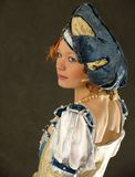 Girl in Polish clothes of 16 century Stock Images