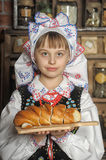 Girl in Polish national costume Stock Photography