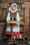 Girl in Polish national costume Stock Photo