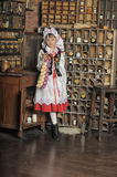 Girl in Polish national costume royalty free stock photography