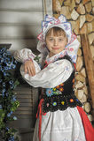 Girl in Polish national costume Royalty Free Stock Photos