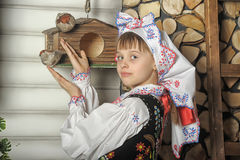 Girl in Polish national costume Royalty Free Stock Photo