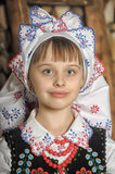 Girl in Polish national costume Royalty Free Stock Images