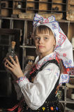 Girl in Polish national costume Royalty Free Stock Image