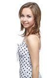 Girl in polka-dot dress Royalty Free Stock Photos