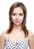 Girl in polka-dot dress Royalty Free Stock Photos