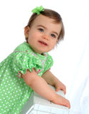 Girl in Polka Dot Dress Royalty Free Stock Image