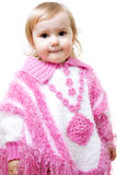 Girl in poncho Royalty Free Stock Photos