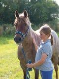 Girl and Pony royalty free stock photo