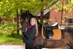 Girl with pony Royalty Free Stock Photos