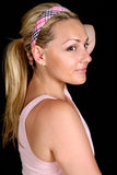 Girl with a ponytail Stock Image