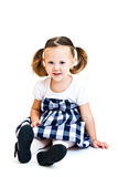 Girl with ponytails Royalty Free Stock Photography