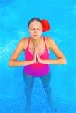 Girl in a pool Stock Photos