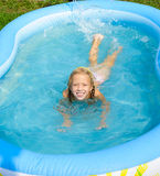 The girl in pool Royalty Free Stock Images