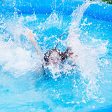Girl in pool Royalty Free Stock Photography