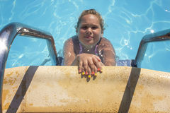Girl in the pool Royalty Free Stock Photos