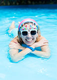 Girl in the pool Stock Image
