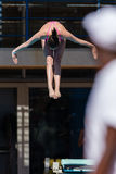 Girl Pool Diving Championships Royalty Free Stock Photos