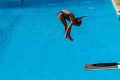 Girl Pool Diving Championships Stock Photos