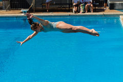 Girl Pool Diving Championships Stock Images