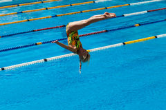 Girl Pool Diving Championships Royalty Free Stock Photo