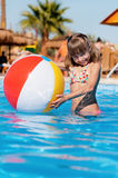Girl in pool Royalty Free Stock Photo