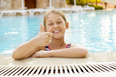 girl in the pool Royalty Free Stock Image
