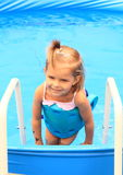 Girl in pool Royalty Free Stock Image