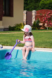 Girl in the pool Royalty Free Stock Photo